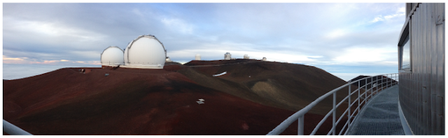 View of Mauna Kea (one of the best astronomical observing sites in the world) from the Subaru Telescope Cat Walk - Image Credit: M. E. Schwamb