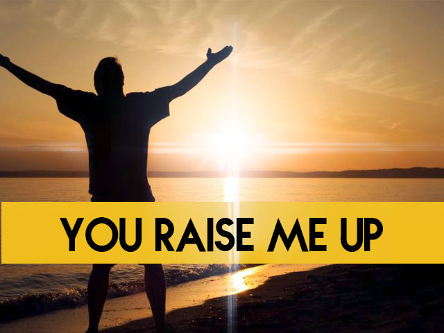You Raise Me Up, Man Thanking or Praising the Lord
