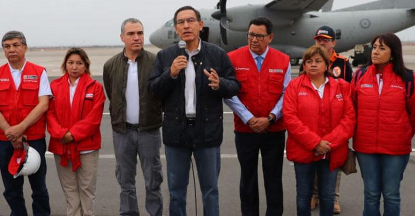 TERREMOTO EN PERÚ: Presidente Martín Vizcarra viajó a zonas afectadas por potente sismo de hoy Domingo 26 Mayo 2019