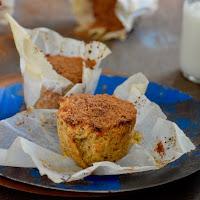 Muffins de laranja e polenta