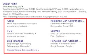 Tips Jitu Mendapatkan Sitelink Dari Google