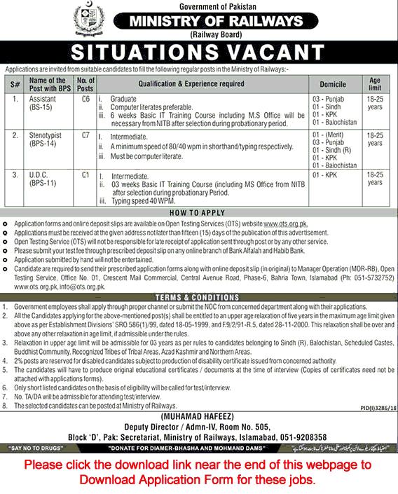 Government jobs Pakistan Railway Jobs 2019