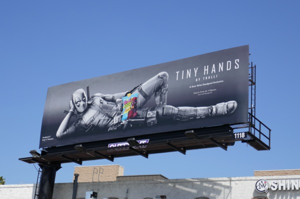 Deadpool 2 Tiny Hands Trolli billboard