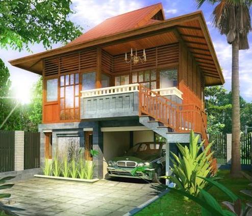 desain rumah panggung modern 2016