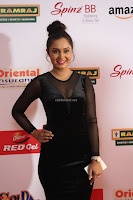 Vennela in Transparent Black Skin Tight Backless Stunning Dress at Mirchi Music Awards South 2017 ~  Exclusive Celebrities Galleries 040.JPG