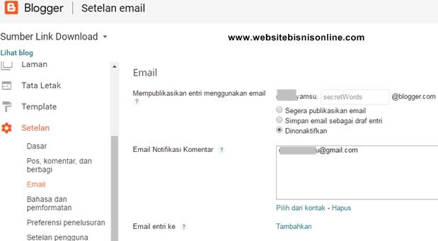 Setelan Email