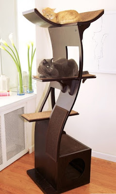 When I started shopping for a big cat tree I found better than big. I found modern, sleek, functional, and (my biggest surprise) beautiful! Here's my review.