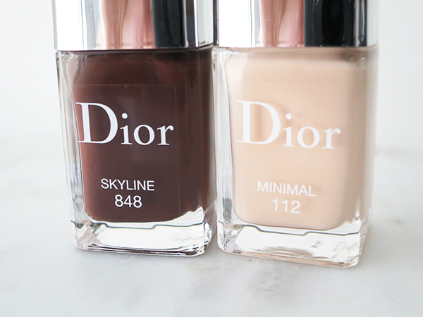 Dior Vernis Skyline fall 2016 collection limited edition nail colours in 848 Skyline and 112 Minimal