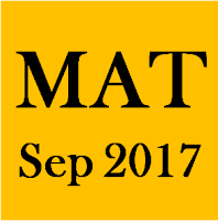 Management Aptitude Test (MAT – September 2017)