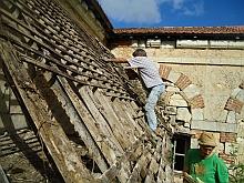 Déconstruction des annexes du cloître