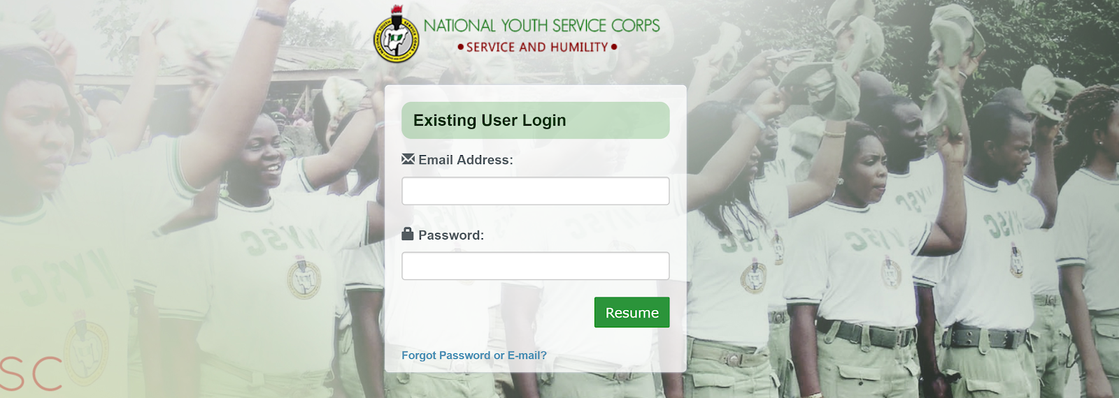 NYSC Portal Login and Registration Guide