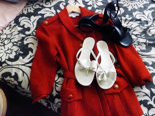 vintage st john, Valentino sandals, bcbg maxazria shoes