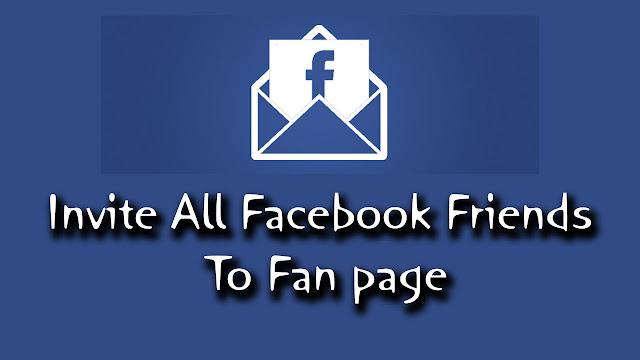 Mời tất cả bạn bè like trang facebook