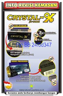 crystal x kemasan baru 2016