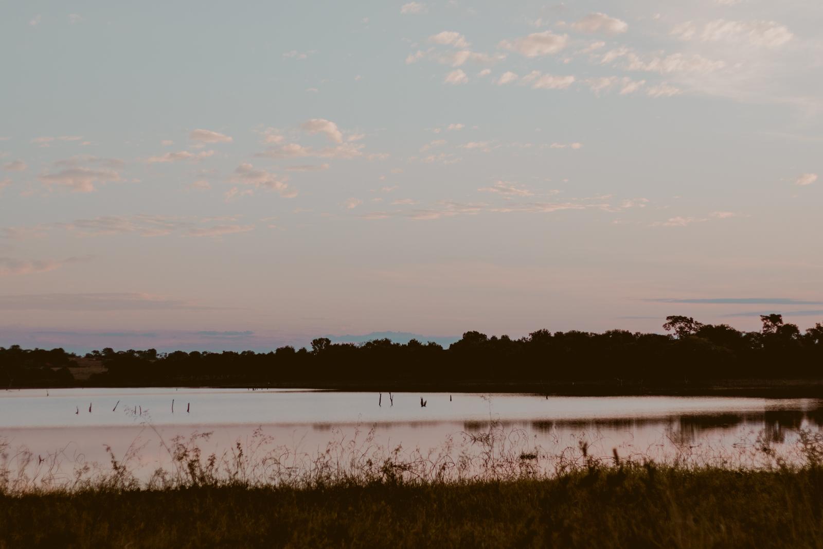 por do sol lago