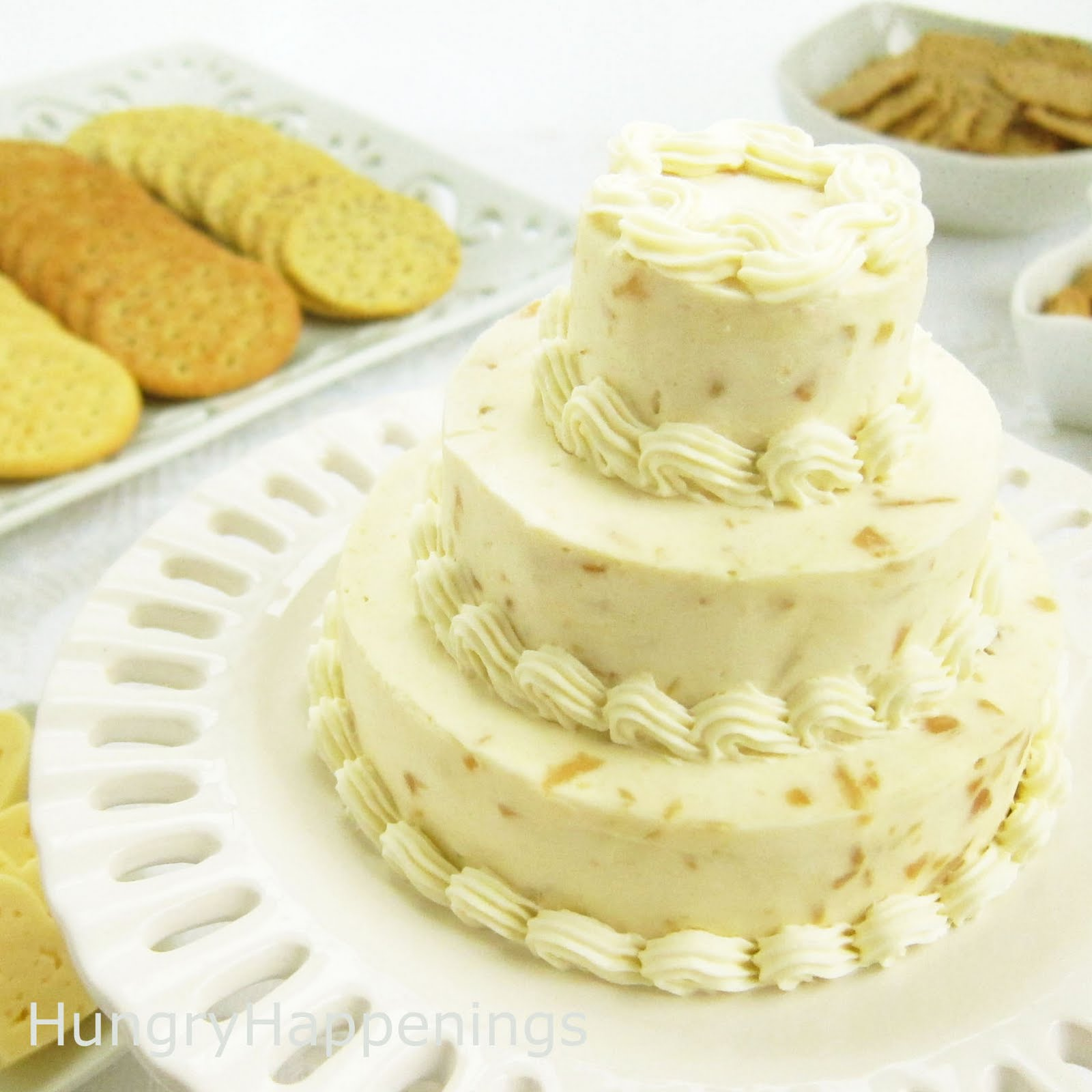 Cheese Ball Wedding Cakes Elegant Appetizer Hungry Happenings
