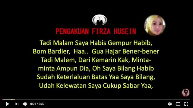 Video Pengakuan Firza Husein beredar di YouTube