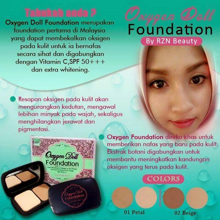 Kelebihan Oxygen Doll Foundation By RZN Beauty