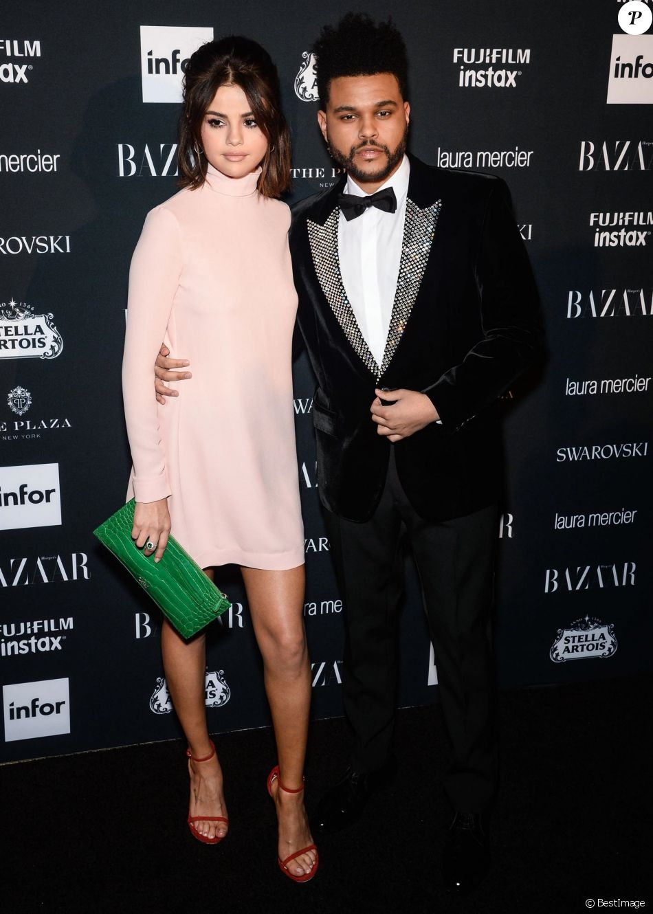 SELENA GOMEZ AND THE WEEKND AT HARPER'S BAZAAR ICONS BY CARINE ROITFELD