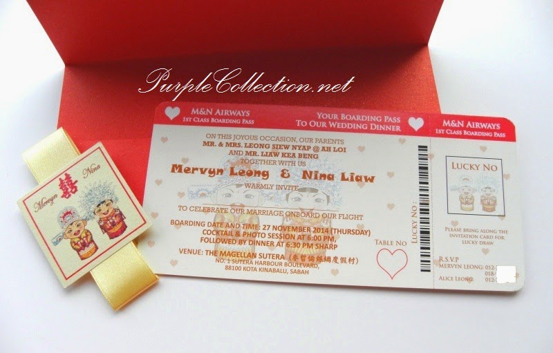 Chinese Red Boarding Pass Wedding Card, printing, invitation, cartoon, couple, modern, traditional, cetak, square tag, red envelope, cover, art card 260g, malaysia, singapore, australia, united kingdom, great britain, united states of america, USA, perak, ipoh, penang, johor bahru, jurong, kuching, sabah, sarawak, miri, bintulu, sandakan, kota kinabalu, tawau, brunei, bentong, pahang, kuantan, bespoke, personalised, personalized, instagram photo card, ivory satin ribbon, online, place order, purchase, buy, design, custom, handmade, hand crafted, cute, wedding fair, expo