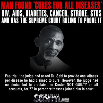 Man Found 'Cures for All Diseases' HIV, AIDS, Diabetes, Cancer, Stroke, STDs — AND Has the Supreme Court Ruling to Prove it