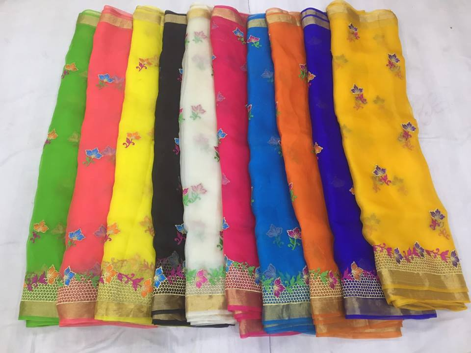 4b4c179253d3e The latest trendy collection organza sarees these days we have have lot of  vanity designs in organza saree. Now we came up with new design i.e  embroidery ...