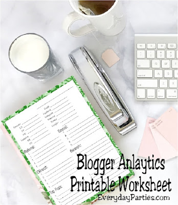 Easily grow your blog by keeping track of your analytics each month with this free printable.  Find this blog tool and other great ways to grow your business by clicking here now!