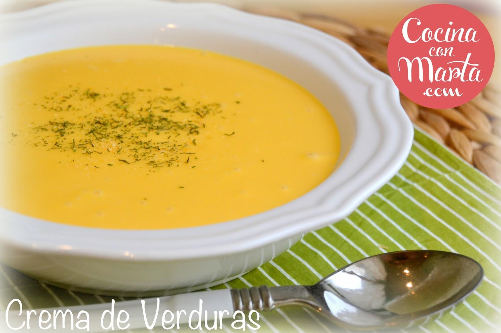 Crema de verduras, receta casera, calabaza, patata, zanahorias, puerro, quesitos, Cocina con Marta, ligera, dieta, fácil, rápida