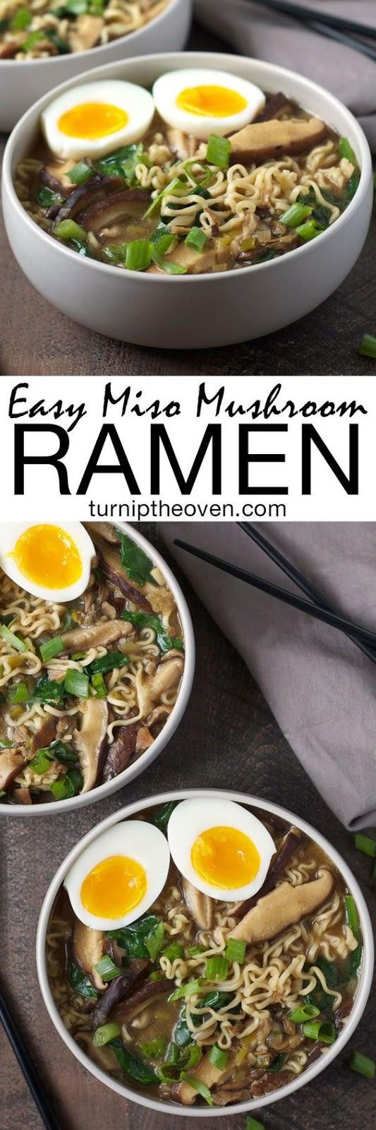Easy Miso Mushroom Ramen