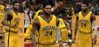NBA 2K13 Paul George Face Pacers NBA2K Playoffs Update