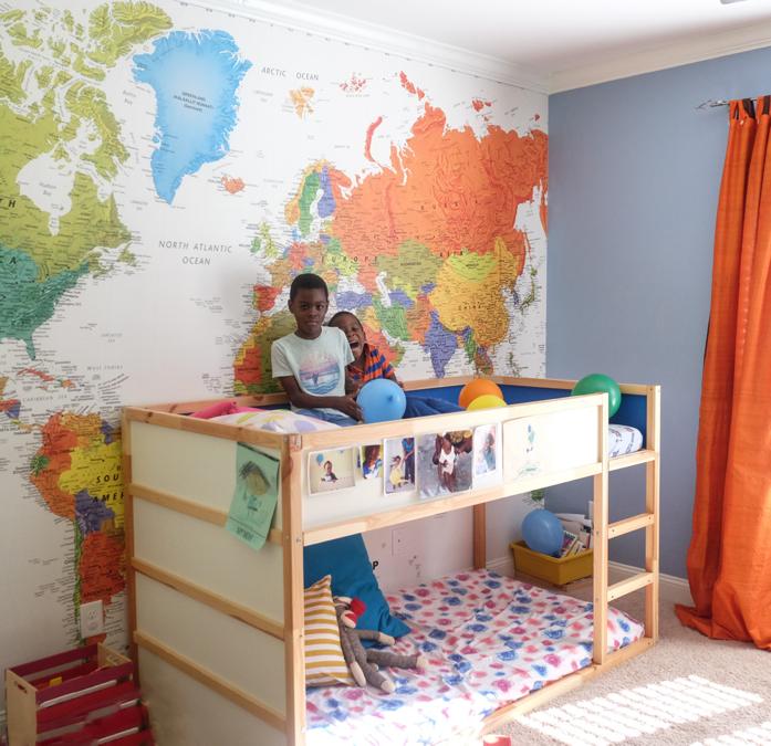 Map Mural in boy's bedroom-designaddictmom