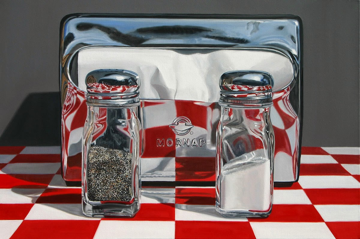 13-Diner-Necessities-Daryl-Gortner-Reflections-in-Art-Photo-Realistic-Paintings-www-designstack-co