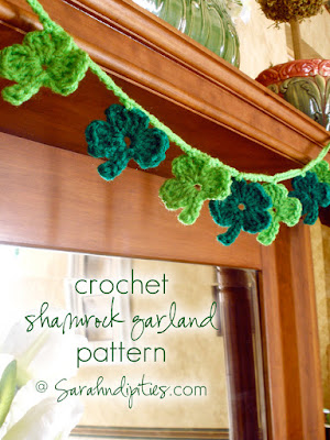 http://sarahndipities.indiemade.com/blog/things-make-crochet-shamrock-garland-pattern