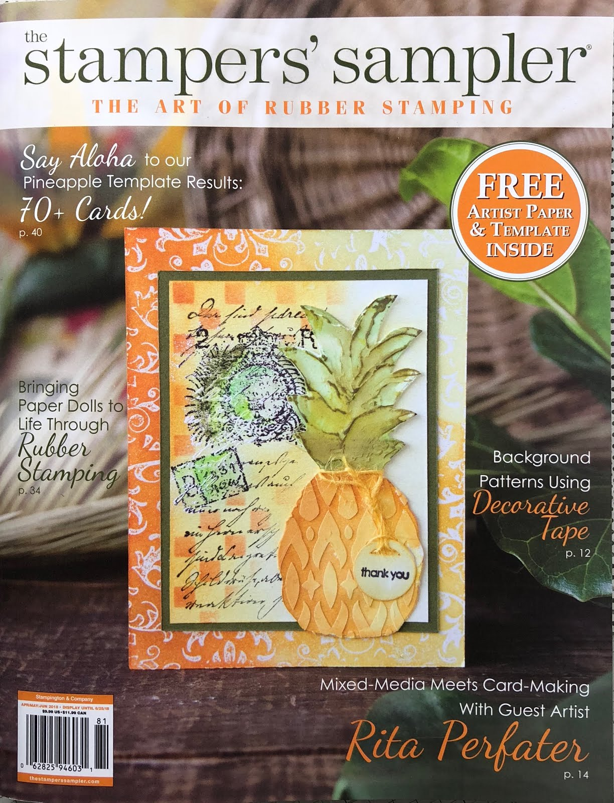 Published Apr/May/June 2018 Stampers' Sampler