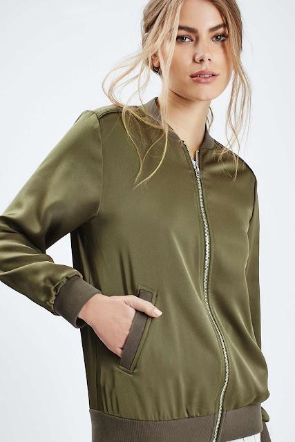 green satin bomber jacket,.