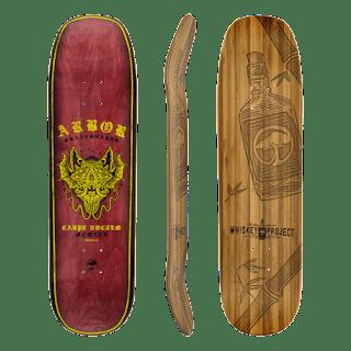 竹とメープルを使った最高級スケートボードデッキ