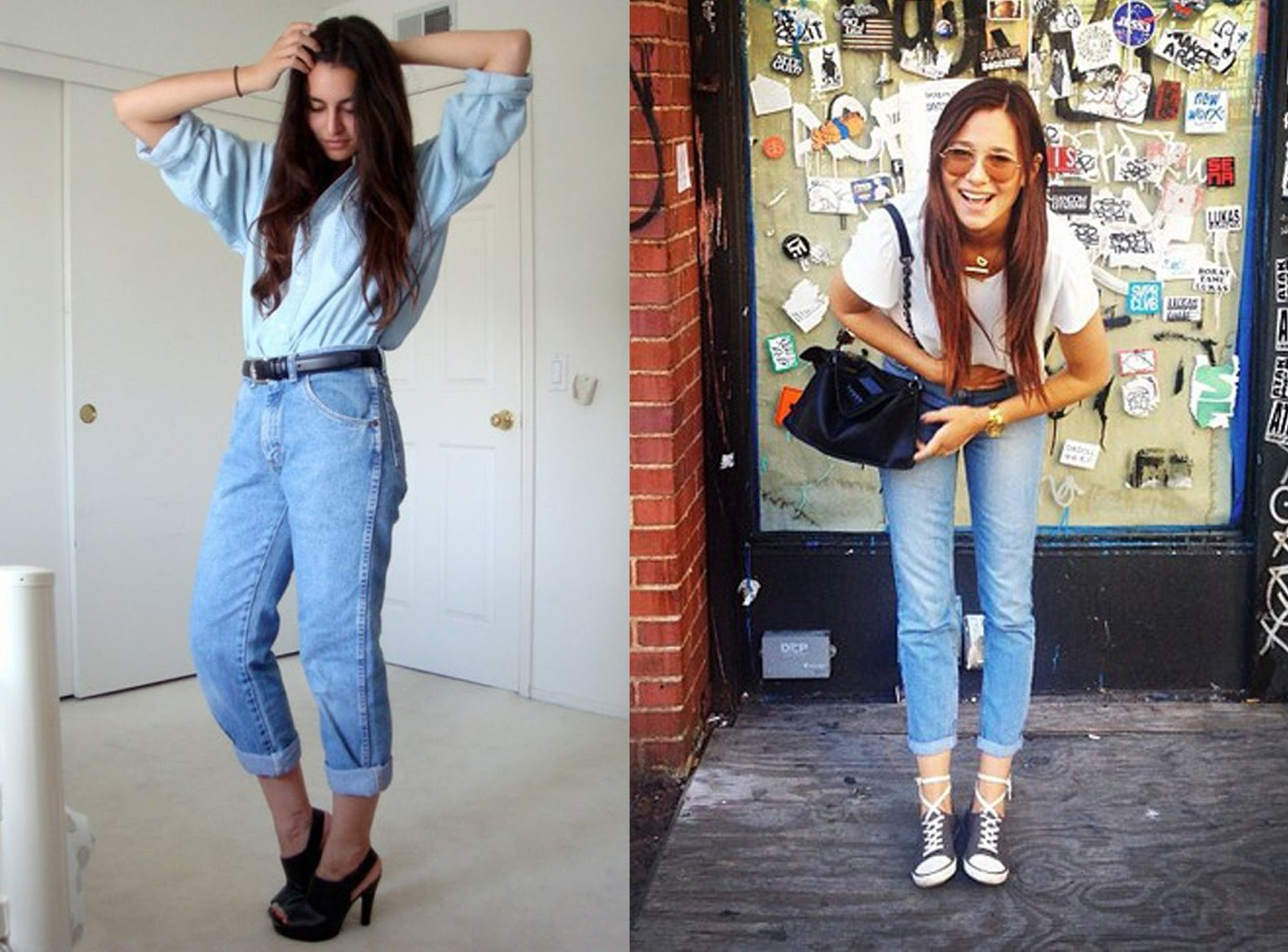 726b8036b6f7a Topshop Vintage Mom Jeans outfit inspiration t Jeans
