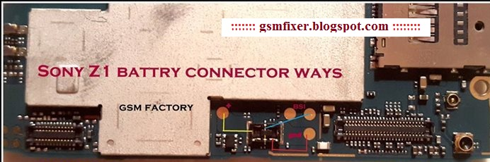 Sony Xperia Z1 Battery Connector Jumper Ways Solution