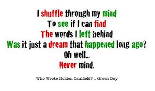 Green Day Lyrics - Who Wrote Holden Caulfield
