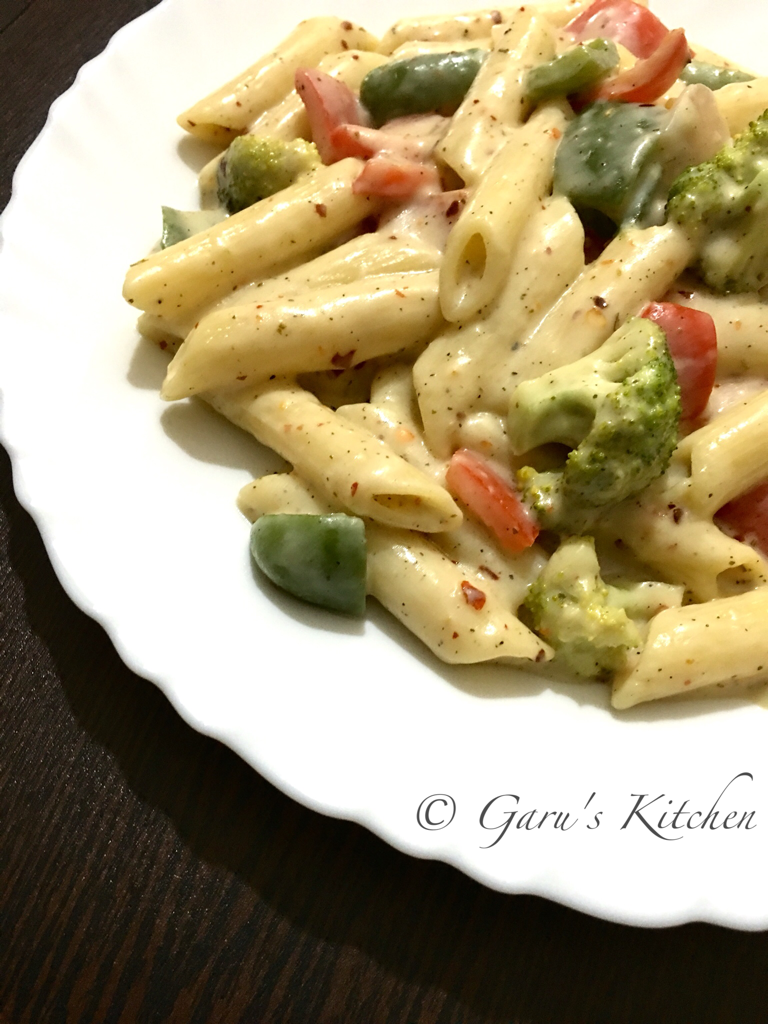 how to cook white sauce pasta