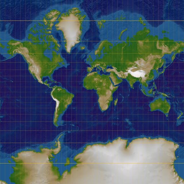 Odwzorowanie Merkatora walcowe wiernokątne Von Lars H. Rohwedder (User:RokerHRO) - Eigenes Werk, CC BY-SA 3.0, https://commons.wikimedia.org/w/index.php?curid=1073724