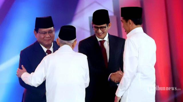 Prabowo-Sandi Unggul Debat dan Menang Pilpres dengan Suara Telak
