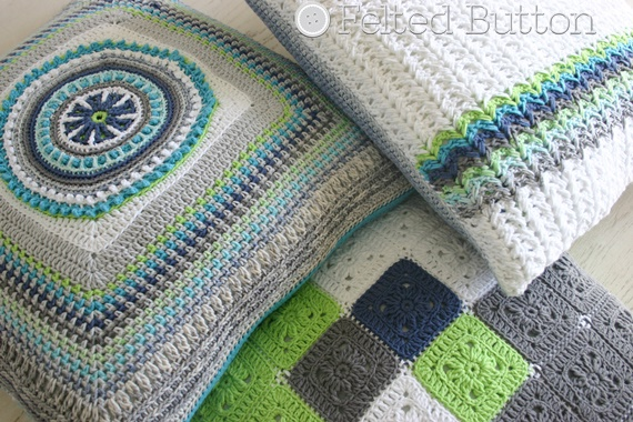 ... Button - Colorful Crochet Patterns: Herringbone Crochet Pillow Stitch