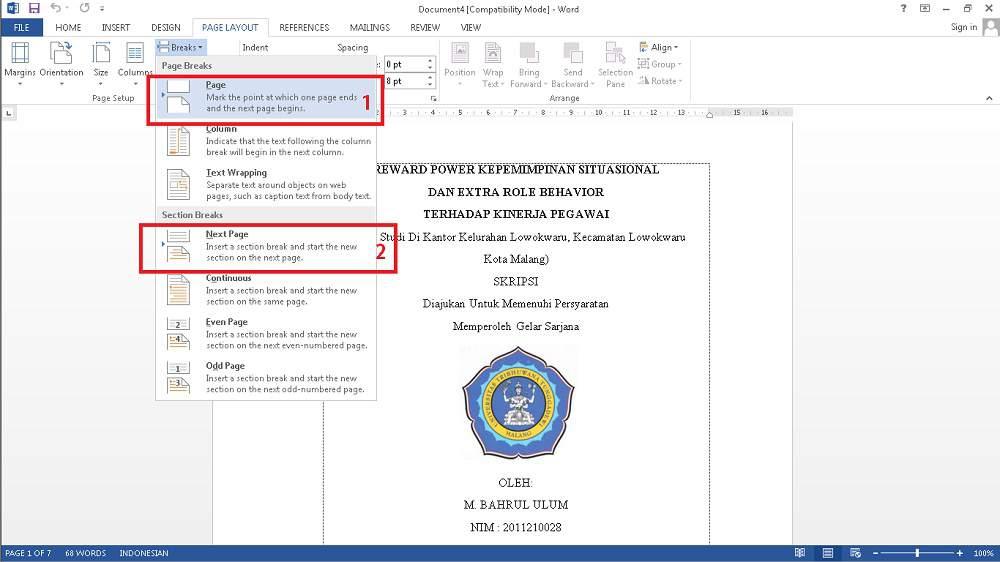 Cara Menyatukan Halaman Skripsi Menjadi Satu File [COVER - i,ii,iii - 1,2,3]