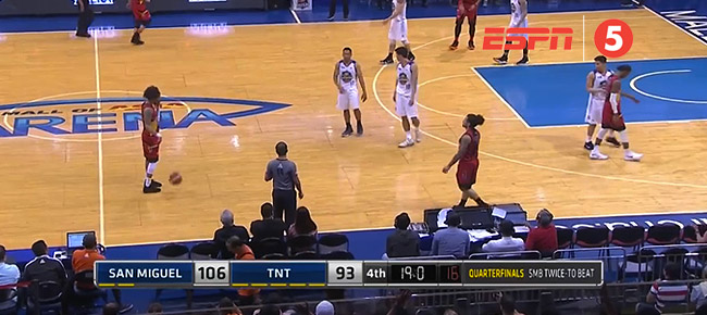 San Miguel eliminates TNT, 106-93 (REPLAY VIDEO) March 6