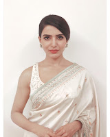 Samantha unseen Glam Photos in Designer Saree TollywoodBlog