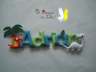 nombre-fieltro-felt-feltro-decoración-infantil-name-banner-elbosquedelulu-regalo-personalizado