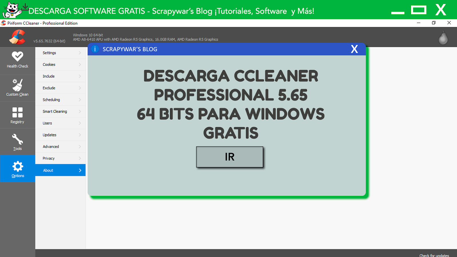 Descarga CCleaner 5.65 Gratis