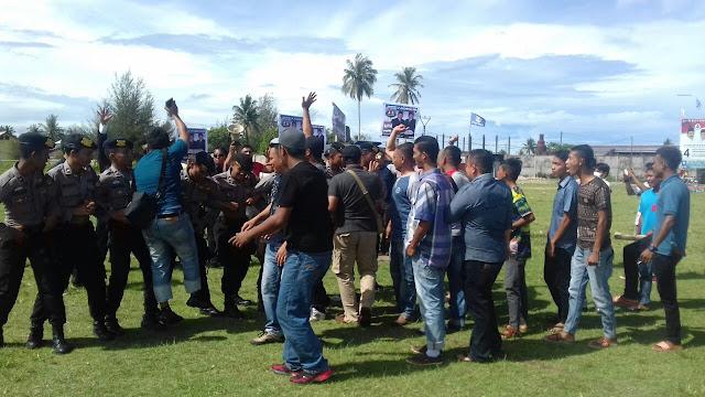 Polres Abdya Uji Kesiapan Personel Pengamanan Pilkada