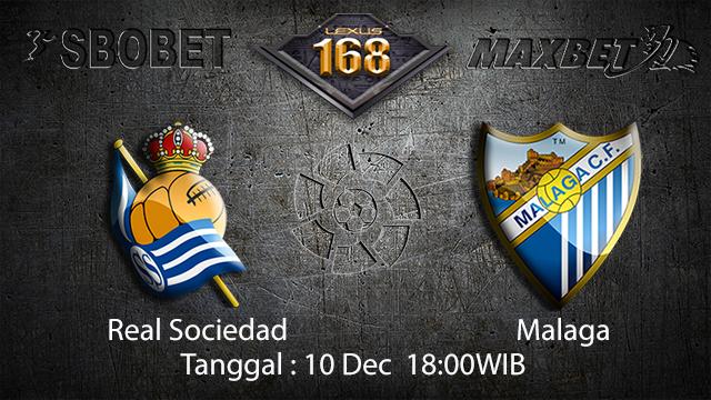 PREDIKSI BOLA ~ PREDIKSI TARUHAN BOLA REAL SOCIEDAD VS MALAGA 10 DESEMBER 2017 (Spanish La Liga)